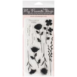 "Grand Peaceful Wildflowers Stamps 4""x8"" - 1"
