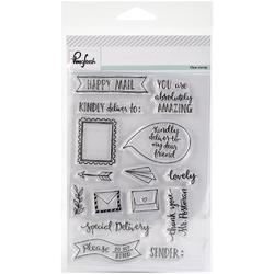 "Happy Mail Clear Stamp Set 4""x6"" - 1"