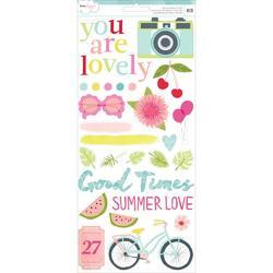 "Happy Place Accents & Phrases Stickers 6""x12"" 2 pkg"