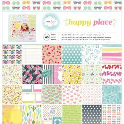 "Happy Place Single-Sided Paper Pad 12""x12"""