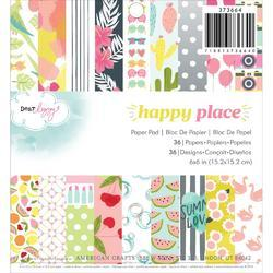 "Happy Place Paper Pad 6""x6"""