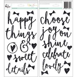 Happy Things Glitter Foam Stickers - 1