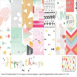 """Happy Things Collection Paper Pack 12""""x12"""" - 1"""