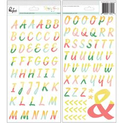 Happy Things Puffy Alphabet Stickers - 1