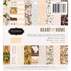 """Heart of Home Single-Sided Paper Pad 6""""X6"""" 36/Pkg"""