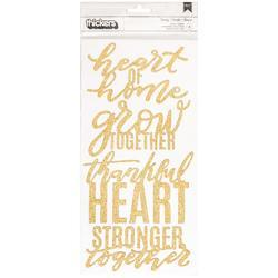 "Heart Of Home Thickers Gold Foiled Stickers 5.5""X11"" 2/Pkg"