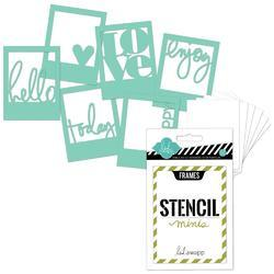 Heidi Swapp 3x4 Mini Stencil Kit - Frames - 1