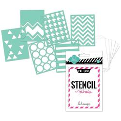 Heidi Swapp 3x4 Mini Stencil Kit - Patterns - 1