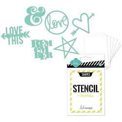 Heidi Swapp 3x4 Mini Stencil Kit - Shapes - 1