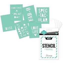 Heidi Swapp 3x4 Mini Stencil Kit - Words - 1