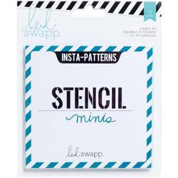 Heidi Swapp 4x4 Mini Stencil & Cardstock Kit - Patterns - 1