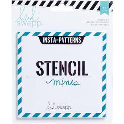 Heidi Swapp 4x4 Mini Stencil & Cardstock Kit - Patterns - 1