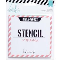 Heidi Swapp 4x4 Mini Stencil & Cardstock Kit - Words - 1