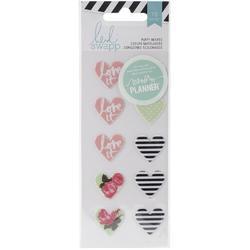 Hello Beautiful Hearts Puffy Stickers - 1