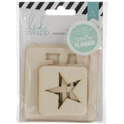 Hello Beautiful Wooden Pocket Cards Embellishments - 1