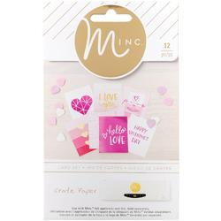 "Hello Love Minc 3""x4"" Card Set 12 pkg - 1"