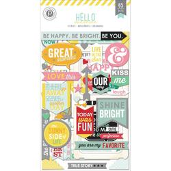 Hello Sunshine Chipboard Stickers Flip Pack 3 sheets - 1