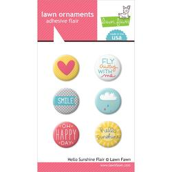 Hello Sunshine Lawn Ornaments Adhesive Flair 6 pkg