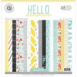 "Hello Sunshine Paper Pad 12'x12"" 48 pkg - 1"