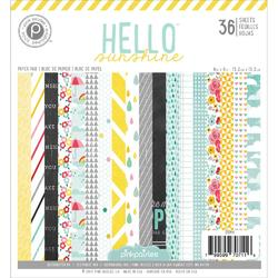 "Hello Sunshine Paper Pad 6""x6"" 36 sheets - 1"
