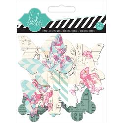 Hello Today Butterflies Clear Pop Acrylic Embellishments