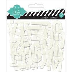 Hello Today Clear Pop Acrylic Alphabet – white