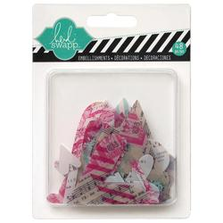 Hello Today Hearts Clear Pop Acrylic Embellishments