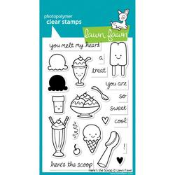 Here's The Scoop Clear Stamps - 1