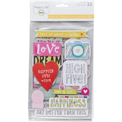 High Five Project Life Chipboard Stickers - 1