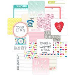 "High Five Project Life Die-Cut Card Pack 4""x4"" 12 pkg"