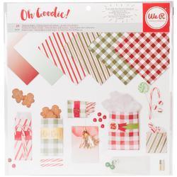 "Holiday Basics Glassine Paper Pack 12""X12"""