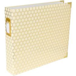 "Honeycomb Cream & Gold Project Life D-Ring Album 12""x12"""