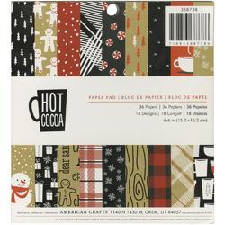 """Hot Cocoa Paper Pad 6""""x6"""" 36 pkg"""