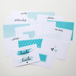 Bráchové PL kartičky 6x4 (Design A) - 1