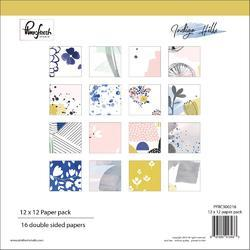 "Indigo Hills Double-Sided Paper Pack 12""x12"""