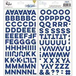 """Indigo Hills Puffy Alpha Stickers 5.5""""x11"""" 2/Pkg"""
