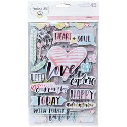 Inspire Project Life Chipboard Stickers