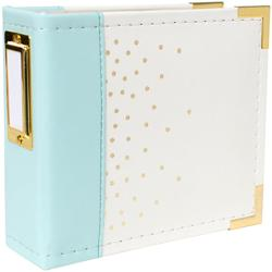 "Instagram Album 4""x4"" Ring – Mint w/Gold Foil Dots - 1"
