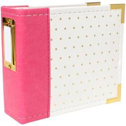 "Instagram Album 4""x4"" Ring – Strawberry w/Gold Foil Dots - 1"