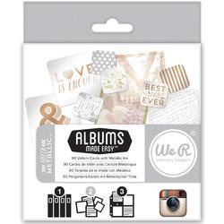 Instagram Albums Made Easy Journaling Cards – Sheer Metallic