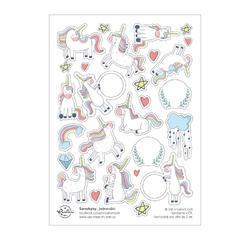 Jednorožec Papírové samolepky - tvary