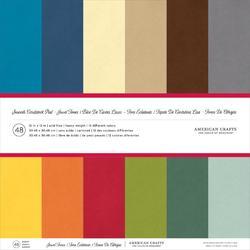 "Jewel Tones Smooth Cardstock Pack 12""x12"" 48 pkg"