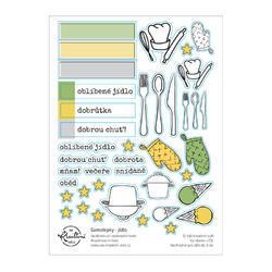 Jídlo Papírové samolepky - tvary