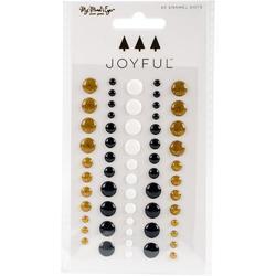 Joyful Adhesive Enamel Dots 60/Pkg