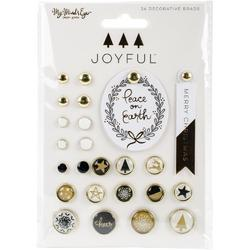 Joyful Decorative Brads 24/Pkg - 1