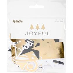 Joyful Mixed Bag Cardstock Die-Cuts 58/Pkg - 1
