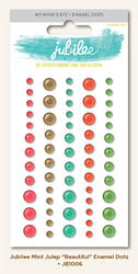 Jubilee Mint Adhesive Enamel Dots