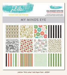 """Jubilee Mint Julep Paper Pad 6""""x6"""" 24 pkg"""