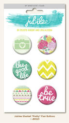 Jubilee Sherbet Flair Button Pins 6 pkg - 1