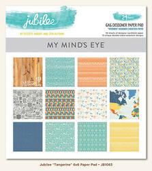 "Jubilee Tangerine Paper Pad 6""x6"" 24 pkg"